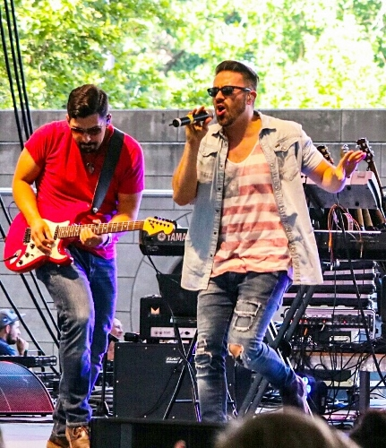 Danny Gokey and Miguel Perez at Three Rivers Festival