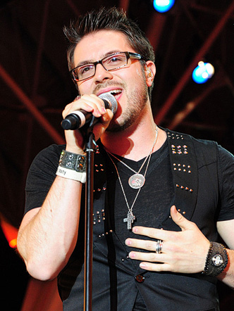 Danny Gokey performs on Fremont Street 2010