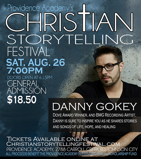 Danny Gokey featured 2017 Christian Storytelling Festival