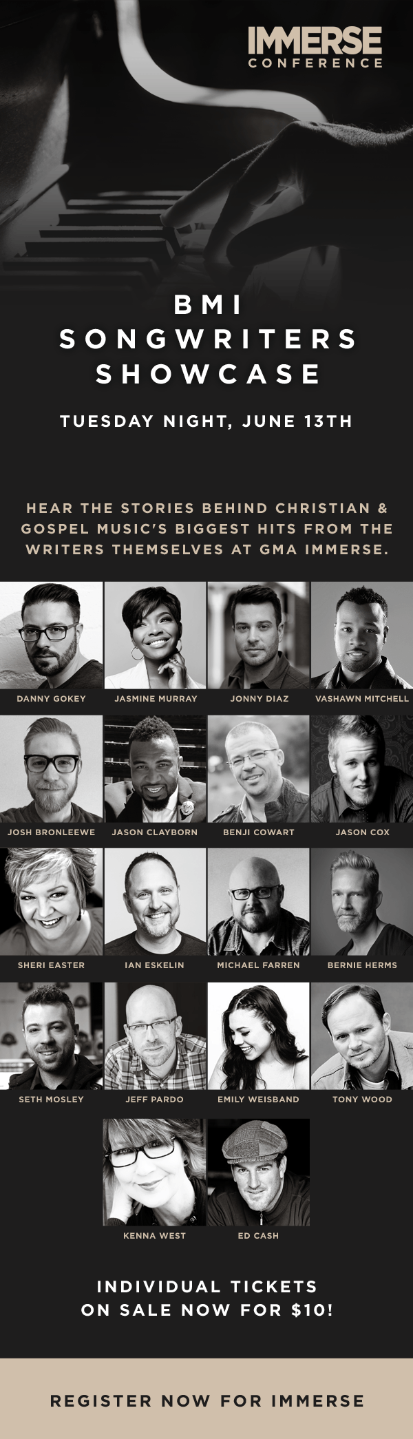 Danny Gokey featured singer songwriter at GMA/BMI event