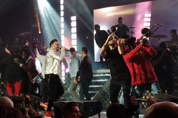 Danny Gokey in the spotlight on the Hits Deep Tour Finale